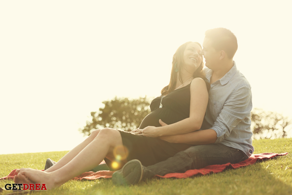 Jessica and Mark - Maternity Session in Malibu, Ca